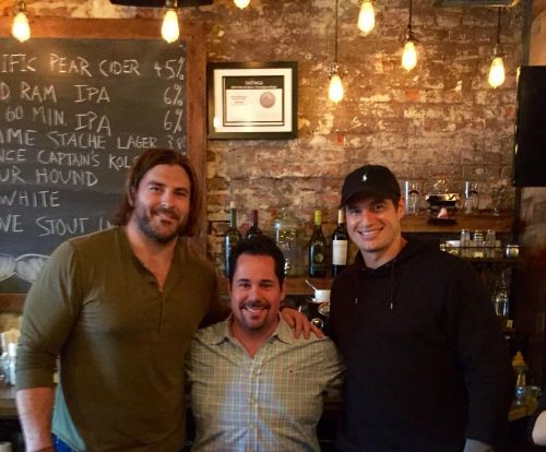 Brent Celek and Jason Kelce with Geno