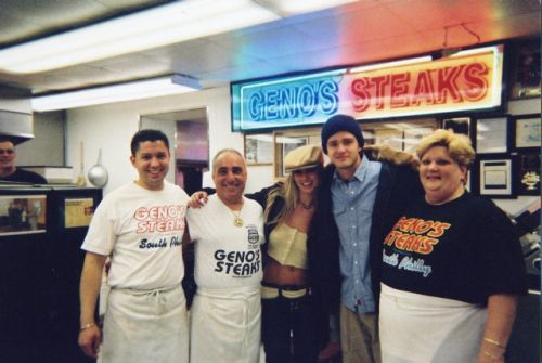 Britney Spears and Justin Timberlake at Geno's
