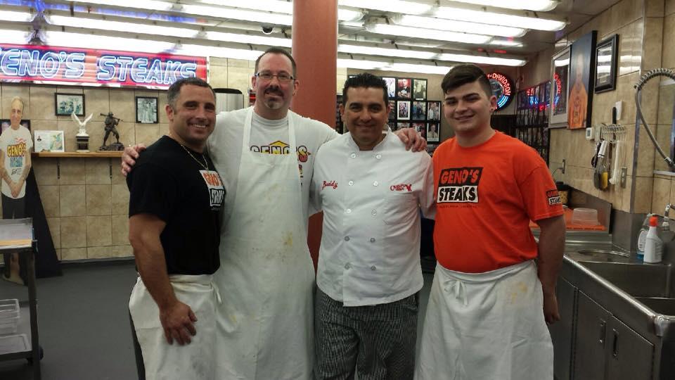 Buddy Valastro at Geno's Steaks