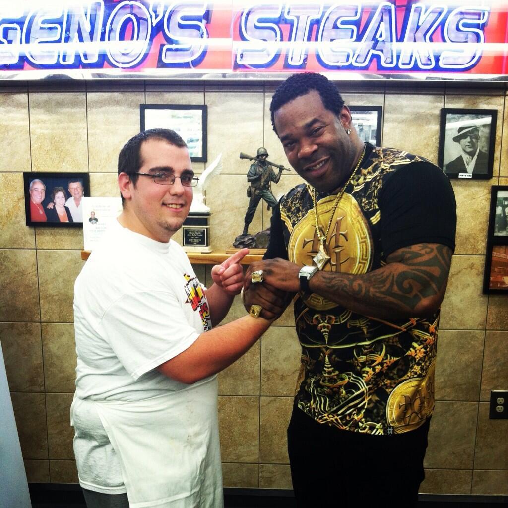 Busta Rhymes at Geno's Steaks