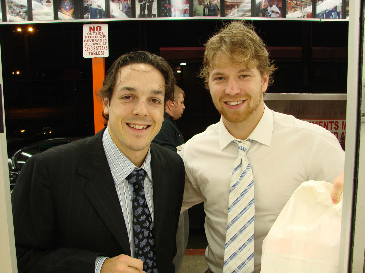 Claude Giroux and Danny Briere