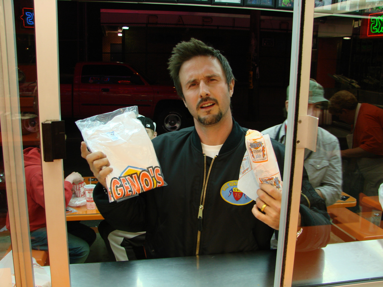 David Arquette at Geno's