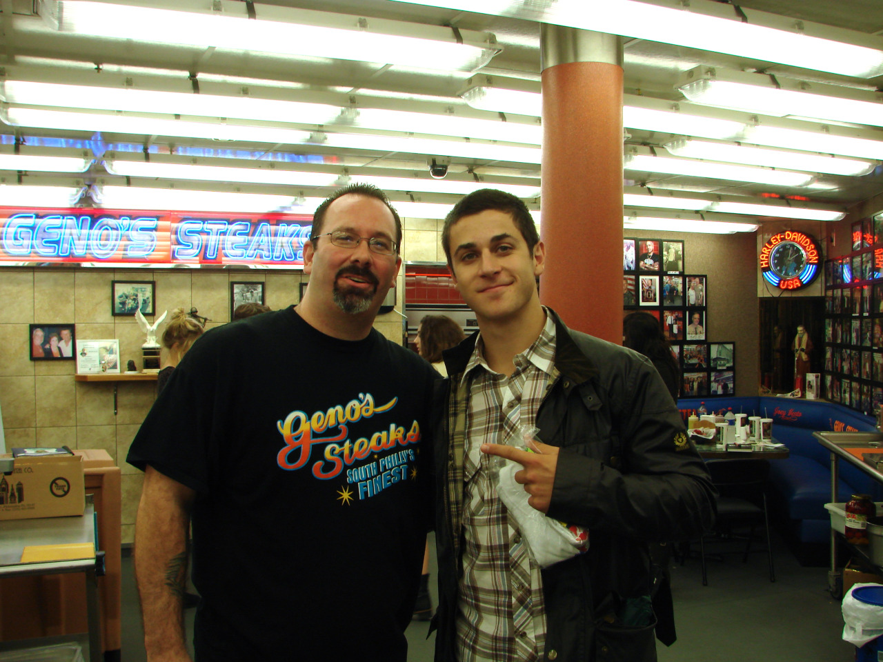 David Henrie at Geno's