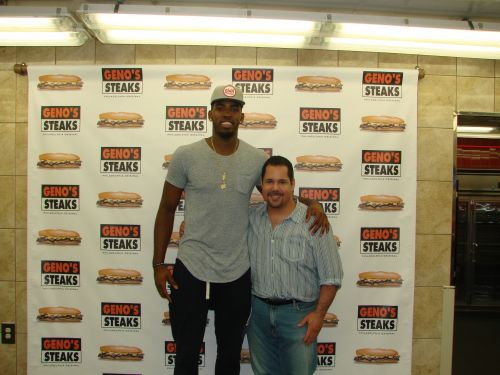 Jason Thompson at Geno's Famous Philly Cheesesteaks