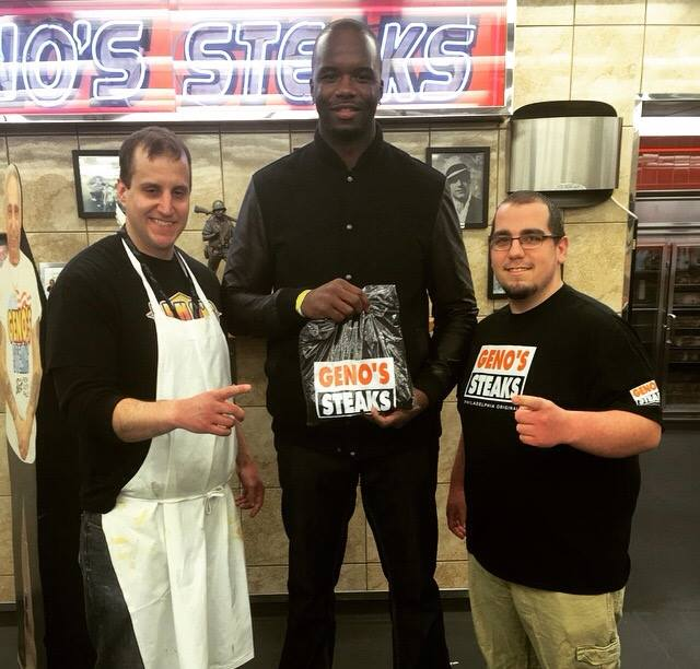 Jermaine O'Neal at Geno's Steaks