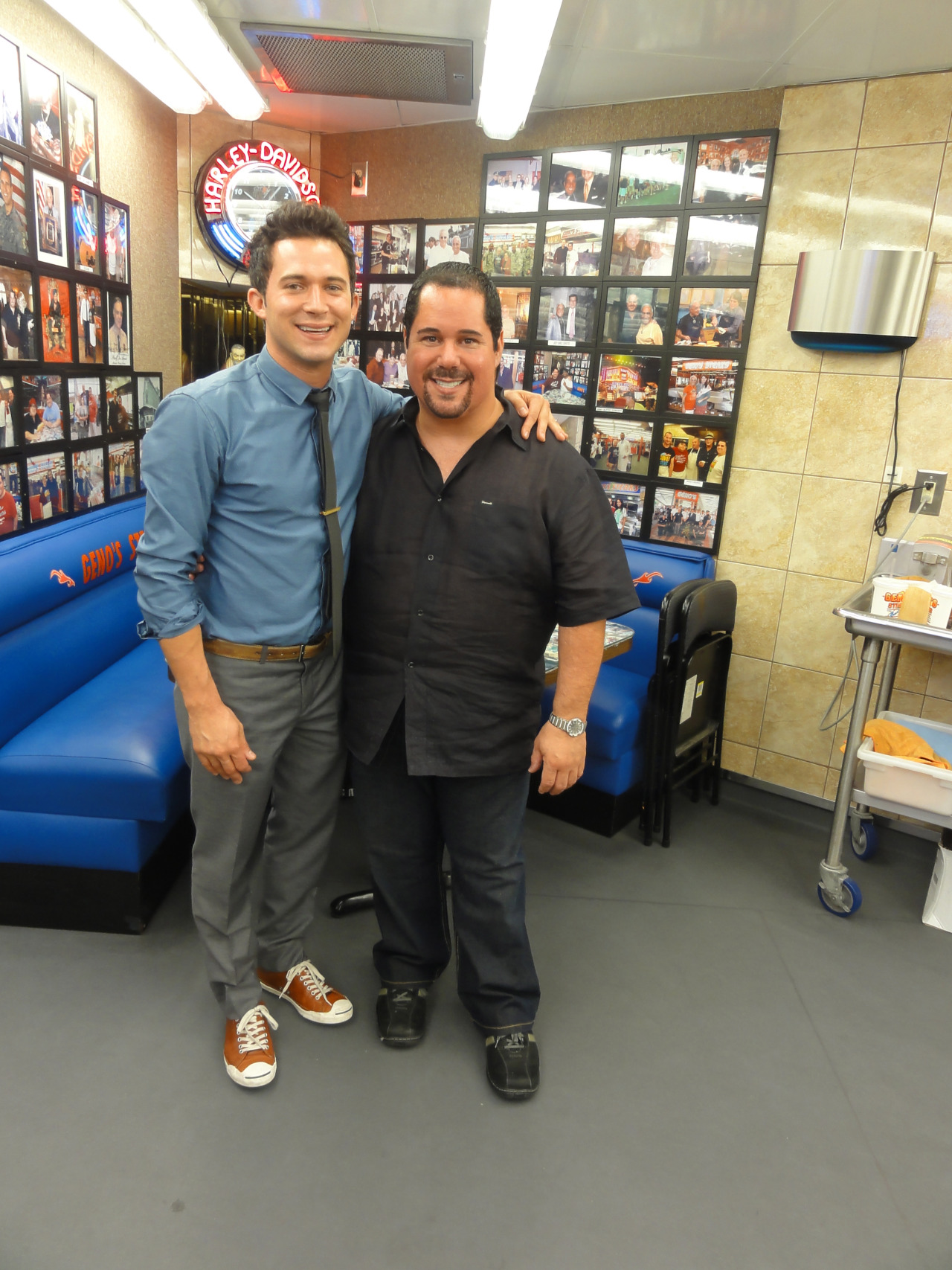 Justin Willman and Geno