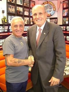 Mayor Rudy Guiliani at Geno's Steaks