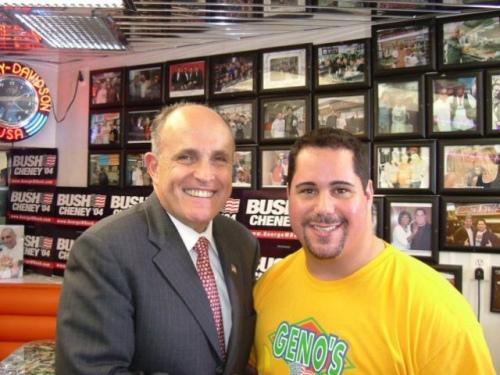 Mayor Rudy Guiliani and Geno