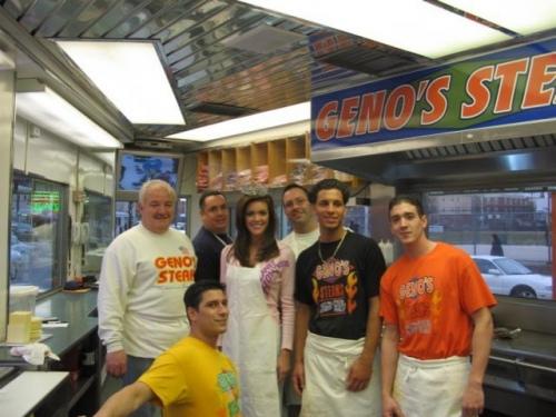 Miss America at Geno's Steaks