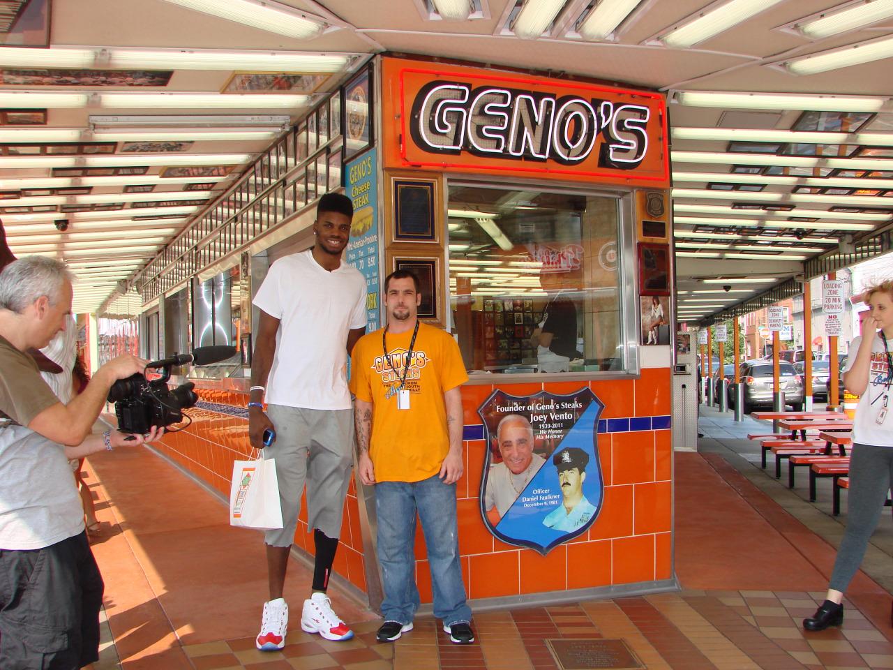 Nerlens Noel at Geno's Steaks