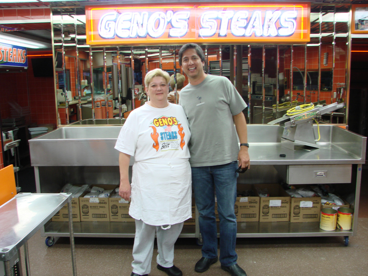 Ray Romano at Geno's Steaks