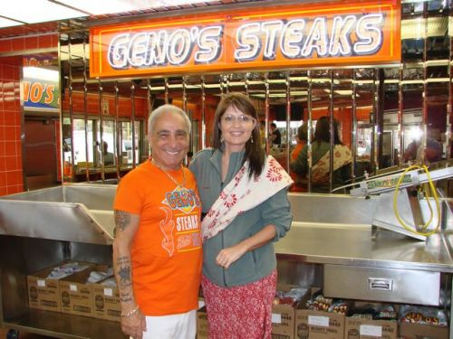 Sarah Palin at Geno's Steaks