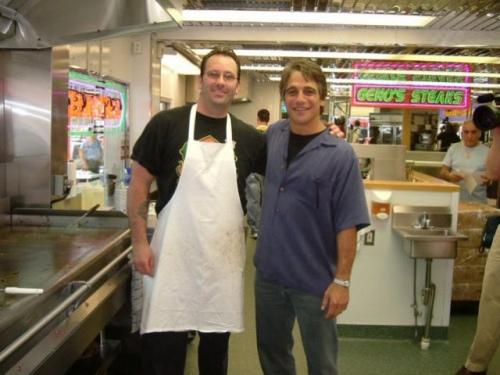 Tony Danza at Geno's Steaks