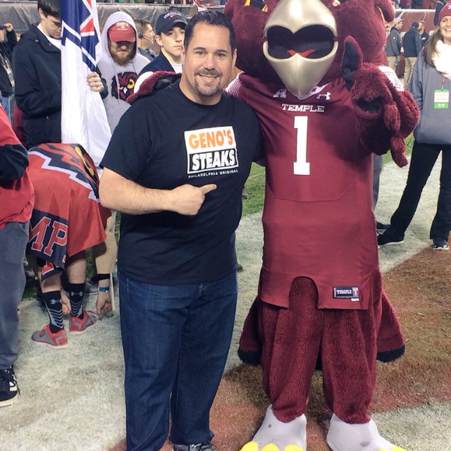 Temple Football with Geno's Steaks