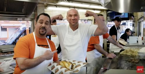 Geno's famous philly cheesesteaks and UFC - dana white's show