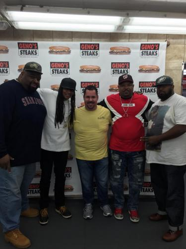 DJ Kool and Geno of Geno's Steaks