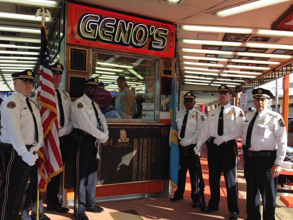 Geno's Steaks Memorial Plaque for Fallen Officers