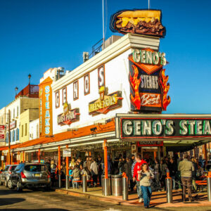 Geno's cheesesteaks Philadelphia