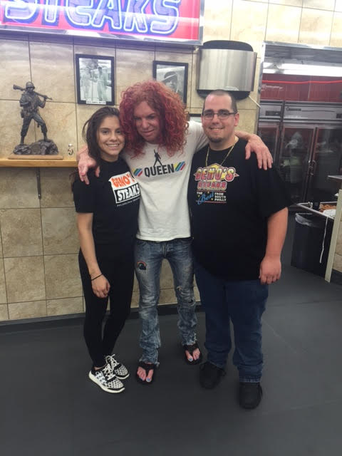 Carrot Top at Geno's Steaks