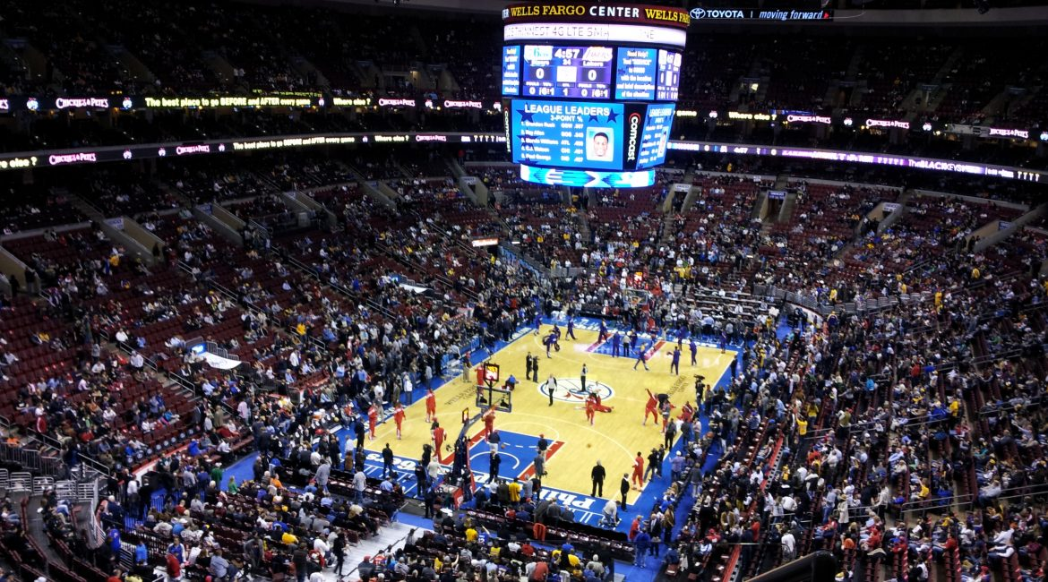 Philadelphia sports at the Wells Fargo Center