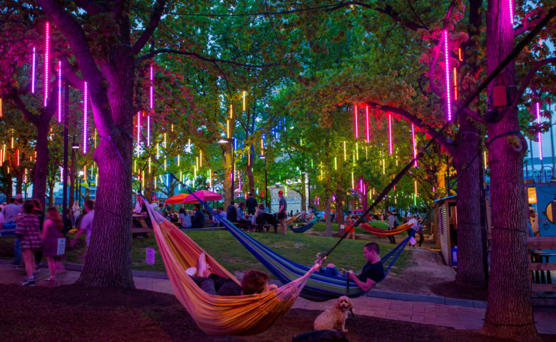 Geno's Steaks heads down to Spruce Street Harbor Park at the Waterfront